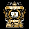 February 1978 40 Years Of Being Awesome - Men's Premium T-Shirt