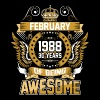 February 1988 30 Years Of Being Awesome - Men's Premium T-Shirt
