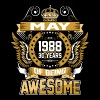 May 1988 30 Years Of Being Awesome - Men's Premium T-Shirt