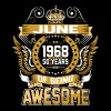 June 1968 50 Years Of Being Awesome - Men's Premium T-Shirt