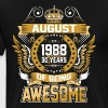 August 1988 30 Years Of Being Awesome - Men's Premium T-Shirt