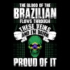 The Blood Of The Brazilian Proud Of It - Men's Premium T-Shirt