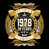 January 1978 39 Years Of Being Awesome - Men's Premium T-Shirt
