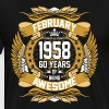 Feb 1958 60 Years Awesome - Men's Premium T-Shirt