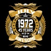 July 1972 45 Years Of Being Awesome - Men's Premium T-Shirt