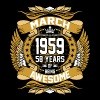 March 1959 58 Years Of Being Awesome - Men's Premium T-Shirt