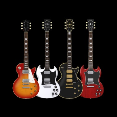Four Electric Guitars - Men's Premium T-Shirt