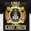 The Real Kings Are Born On July 1967 - Men's Premium T-Shirt