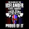 The Blood Of The Icelander Proud Of It - Men's Premium T-Shirt