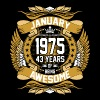 Jan 1975 43 Years Awesome - Men's Premium T-Shirt