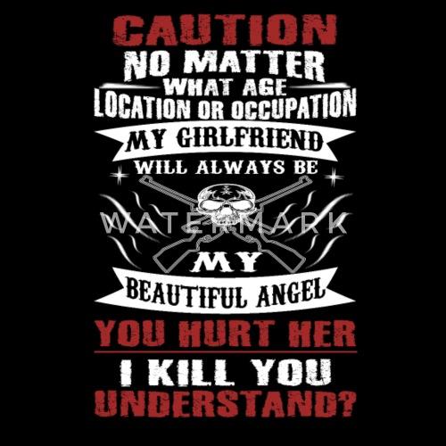 Caution My Girlfriend Mens Premium T Shirt Spreadshirt