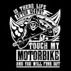 Is there life after death? Touch my motorbike and - Men's Premium T-Shirt