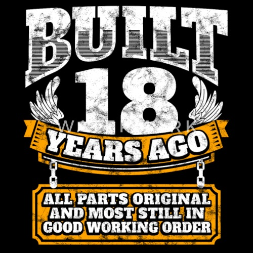 18th Birthday Gift Idea Built 18 Years Ago Shirt By EasyTeezy