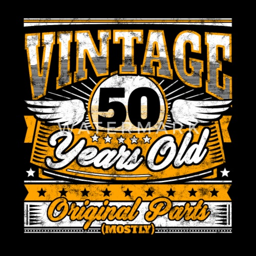 Funny 50th Birthday Shirt Vintage 50 Years Old By EasyTeezy