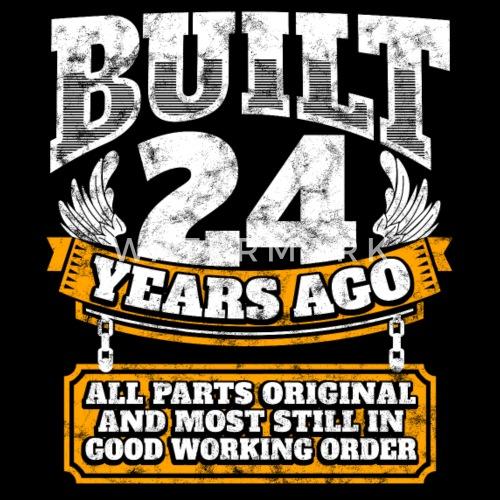 24th Birthday Gift Idea Built 24 Years Ago Shirt By EasyTeezy