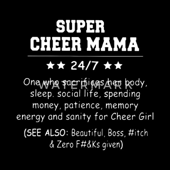 Super cheer mama 247 one who scarifices her body s Men's Premium T-Shirt -  black