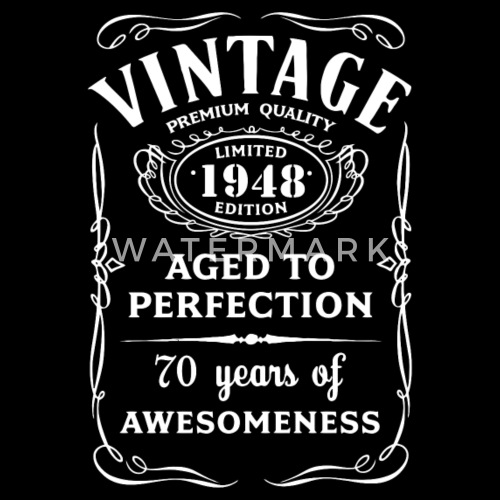 Vintage Limited 1948 Edition 70th Birthday Gift By Bestgifttshirt