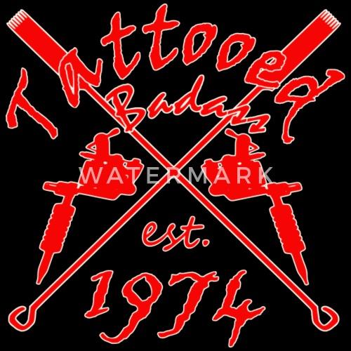 Tatouage Badass Annee De Naissance 1974 T Shirt Premium Homme