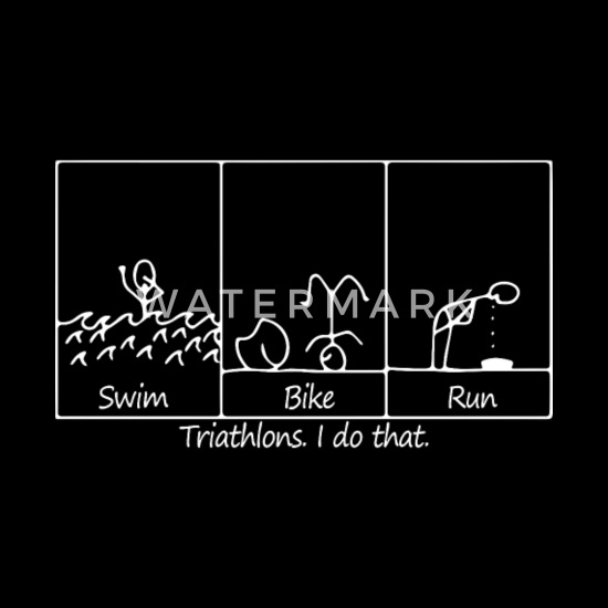 Ironman Triathlon Swim Bike Run Sports Symbol Men/'s Black T-Shirt Size S to 3XL