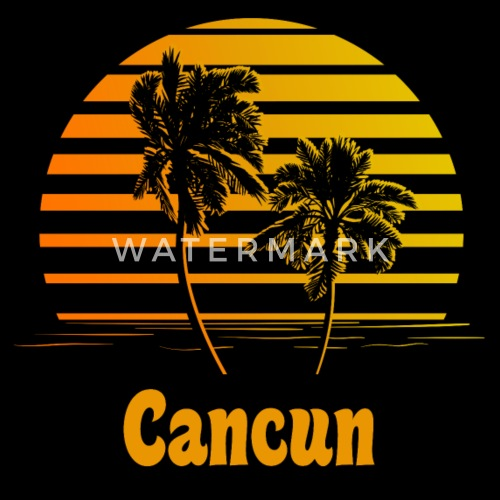 ffd0ad864fb362 Cancun Mexico Sunset Palm Trees - Men s Premium T-Shirt. Front. Front.  Back. Back. Design