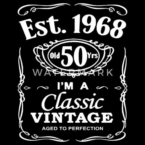 Men S 50th Birthday Est Vintage Man Fiftieth 50 Ye Mens Premium T