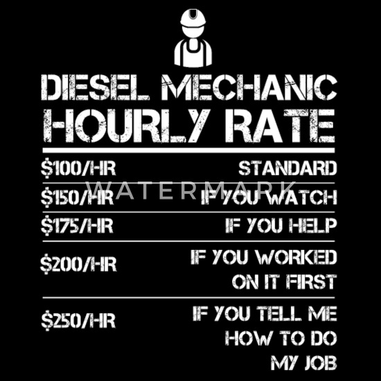 Diesel Mechanic Hourly Rate Gift Shirt For Men Men's Premium