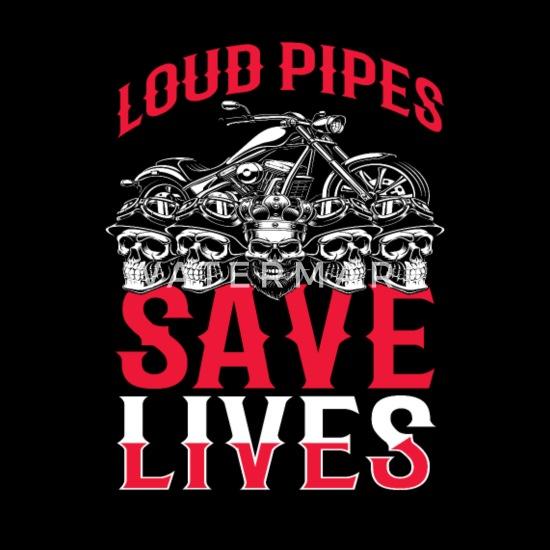 Biker T Shirt Loud Pipes Save Lives Funny Men/'s Motorcycle T-Shirt S-5XL