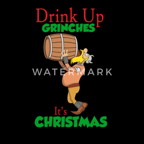 Drunken Chrinch Gift Viking Funny Christmas Mens Premium T Shirt