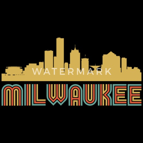 vintage style milwaukee wisconsin skyline by awesome shirts