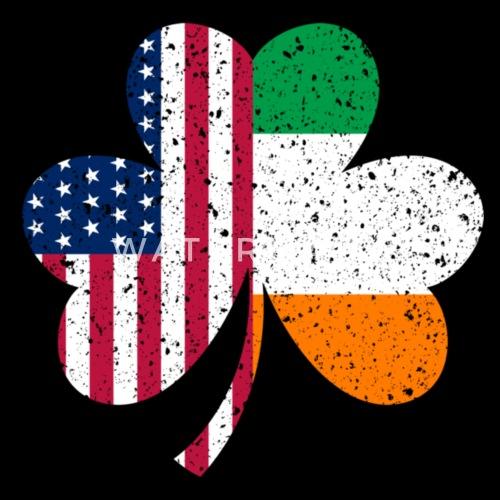 7045dc42739b Irish American Flag Ireland Shamrock St Patricks D Men s Premium T ...