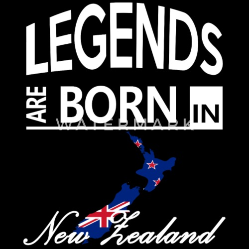 New Zealand Born Legends Cool Funny Birthday Gift By The Smiley Goods