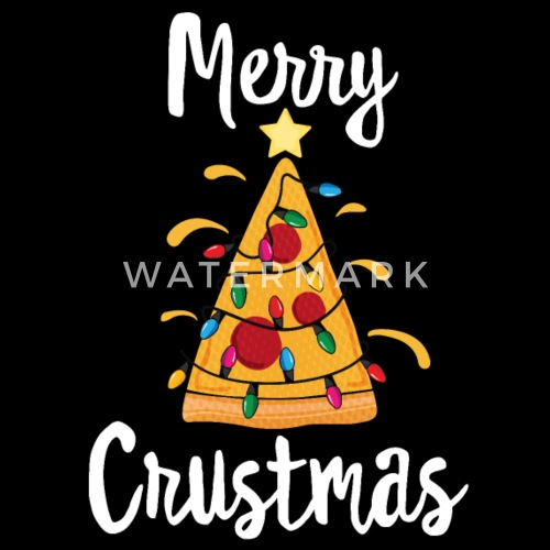 Merry Crustmas Pizza Tree Youth T-Shirt Funny Christmas Gift