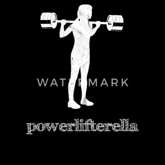 Powerlifting Girl Weightlifting Squat Workout Gym Men's