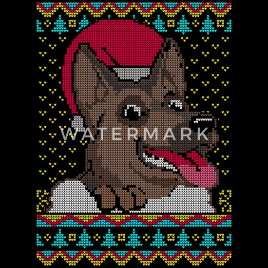 German Shepherd Christmas Sweater.German Shepherd Dog Ugly Christmas Sweater Present Men S