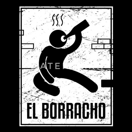 el borracho loteria mexican tarot card men s premium t shirt