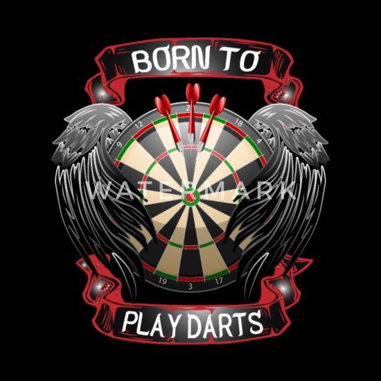 Born To Play Darts T-Shirt Mens dart player gift