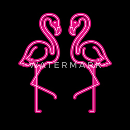 Flamingo Neon Signs T Shirt Men S Premium T Shirt Spreadshirt