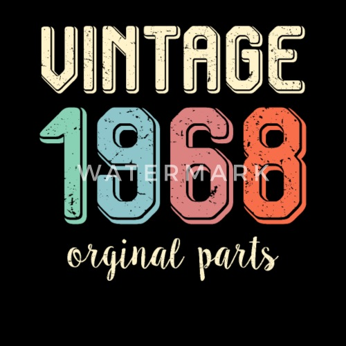 Vintage Retro 1968 50 Years Old 50th Birthday Gift By SWAYSHIRT