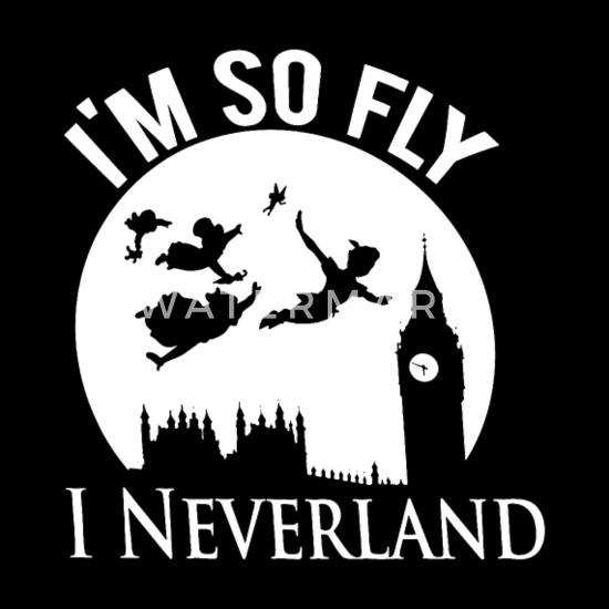 New Disney Peter Pan Silhouette I/'m So Fly Men/'s T-Shirt