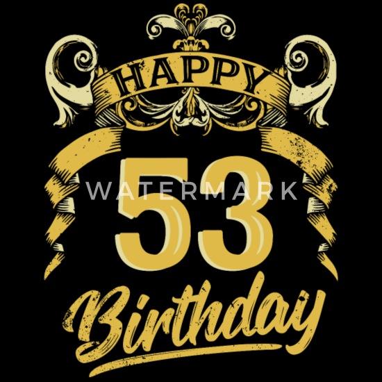 53 Years Birthday Happy Bday Birthday Gift Present Men's