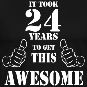 24th Birthday Get Awesome T Shirt Made in 1993 - Men's Premium T-Shirt
