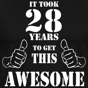 28th Birthday Get Awesome T Shirt Made in 1989 - Men's Premium T-Shirt