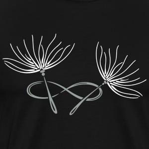 Dandelion, infinity loop, filigree Tattoo. - Men's Premium T-Shirt
