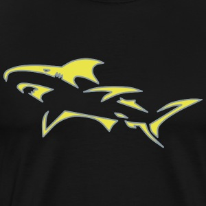 Shark Tribal Design - Men's Premium T-Shirt