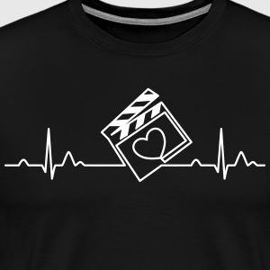 Video Editor's Heartbeat - Men's Premium T-Shirt