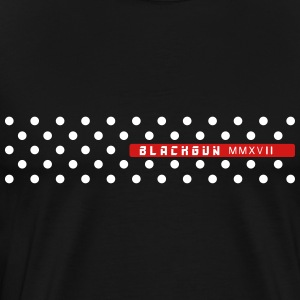 Metal black gun simple polka dot - Men's Premium T-Shirt
