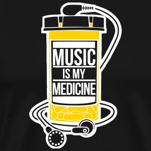 Music is my medicine - Men's Premium T-Shirt