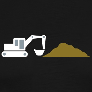 Excavator On A Construction Site! - Men's Premium T-Shirt