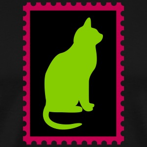 stamp with a cat - Men's Premium T-Shirt