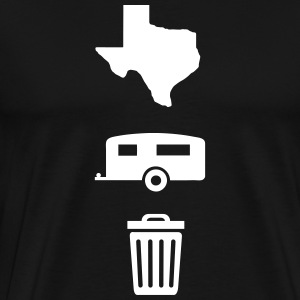 Texas Trailer Trash (Icons - Vertical/Light Color) - Men's Premium T-Shirt